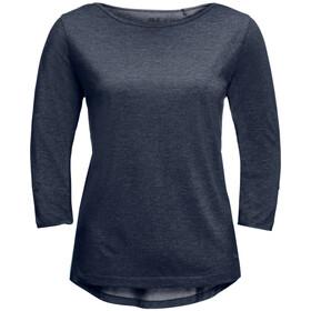 Jack Wolfskin Coral Coast T-shirt met 3/4 mouwen Dames, blauw